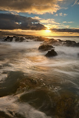 The Sun gives us a thousand sunsets even knowing that he will never see one (Beatriz-c) Tags: sunset atardecer seascape marina landscape paisaje waves olas silk seda sun sol ocean oceano sea mar clouds nubes water agua golden hour hora dorada islas canarias canary islands