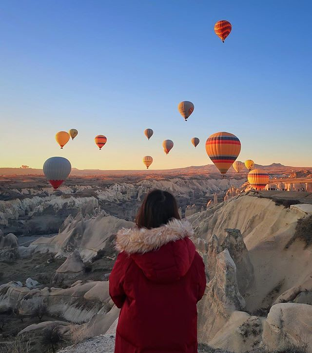 We've had the pleasure of attending the International Balloon Fiesta in Albuquerque three times in the last eight years. Witnessing the mass ascension numbering in the hundreds is a life changing experience. I've seen pictures of Cappadocia like this for