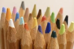 Pencils (tanith.watkins) Tags: pencils multicolour colour macro