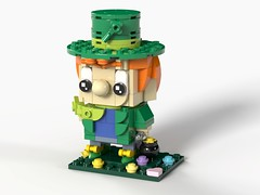 Lucky the Leprechaun - Cereal Mascots MOC (headzsets) Tags: lego legos brickheadz brickheads brick head lucky charms cereal leprechaun st patricks day shamrock irish toy photography collection chibi funko pop vinyl moc mocs
