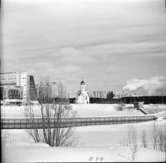Kiev 6C, Fomapan 100, YG filter (yuri.baklykov.) Tags: 6x6 kiev6c bw fomapan city vega12 d76 ygfilter