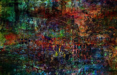 petrified... (Mark Noack) Tags: light color photoshop layer layering surreal expressionism abstract psychedelic futurist abstraction