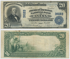 United States $20.00 (twenty dollars) national currency (SMU Libraries Digital Collections) Tags: texas money national us united states currency paper banks notes note banknote banknotes chartered bank banking dallas dallascounty