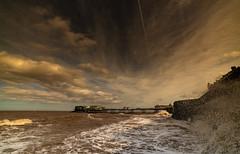 samyang 14mm-12 (istee@live.co.uk) Tags: cromer pier beach seaside wideangle superwideangle sea waves samyang 14mm sonya7rii clouds sky blue