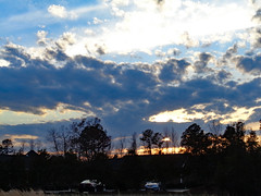 Monday Night Sky. (dccradio) Tags: lumberton nc northcarolina robesoncounty nature natural outdoor outdoors outside sony cybershot dscw830 march monday evening goodevening mondayevening spring springtime sky eveningsky bluesky tree trees branch branches treebranch treebranches treelimb treelimbs cloud clouds cloudformation silhouette