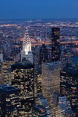 4118779792_cdac86895f_z (pablosimonubina) Tags: atardecer chrysler edificios horaazul luz nocturnas temas nuevayork estadosunidos us