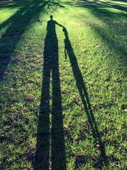 2019:92 The jumping dog silhouette (neonluxe) Tags: selfie portrait green garden project365 jumping silhouette shadow dog