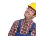 Zufriedener Bauarbeiter