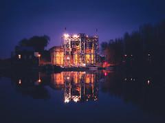 Old Boat Lifts n°4 (Blueocean64) Tags: belgium wallonie lalouviere architecture sky ciel landscape water reflection serene quiet night dusk twilight winter extérieur outdoor longexposure hdr blue panasonic g5 美丽 艺术 摄影 欧洲 旅游