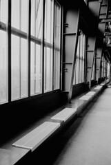 16.02-12 (analogish) Tags: 35mm 135film bw blackwhite essen film kodaktrix400 leicamp leicasummicron35mmf2v18elements reflectaproscan7200 rheinruhr rhineruhr schwarzweiss unescoweltkulturerbe unescoworldheritage zechezollverein zollvereincoalmineindustrialcomplex