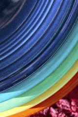 Rainbow Dishes 01042018 (Orange Barn) Tags: dishes plates curve abstract rainbowcolors 119picturesin2019 fiestaware