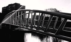 from here to there (BedBrochFlick) Tags: river bridge bw england bedfordshire beds bedford mmxix 2019 uk