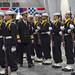 CNO reviews honor guard at graduation