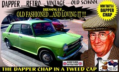 Dapper Chap In A Tweed Cap 2019  Part 10 (Save The Last Ocean) Tags: vintagecarclub vintagecar oldschool retro man fashion poster sign outdoor distinguished gentlemans cap tweed wearing car nz kiwi older oldman granpa classic auto vehicles cavalrytwilltrousers rally show club menswear scottish houndstooth uk british woven yorkshire 2019 nokia headlight art blazer plaid auckland hamilton rotorua tauranga gisbourne napier hastings wellington nelson christchurch dunedin invercargill city tweedcap tweedjacket citycouncil newplymouth whanganui wanganui rockandhop parked road street tweedjacketphotos morris sedan saloon manwearingtweedjacket menstweedjacket ride run dapper