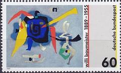 Deutsche Briefmarken (micky the pixel) Tags: briefmarke stamp ephemera deutschland bundespost kunst art gemälde painting willibaumeister maler grafiker bühnenbildner typograf kunsttheoretiker
