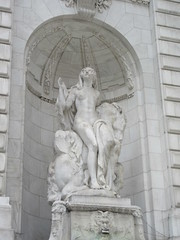 Beauty Lady Statue the New York Public Library 2909 (Brechtbug) Tags: 2019 library lady profile beauty statue outside new york public young woman fountain seated sphinx 42nd street 5th avenue nyc 03032019 statues sculpture animal women winter weather water basin stone wisdom