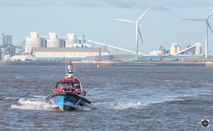 Pilots, they fly. (alundisleyimages@gmail.com) Tags: shipping maritime pilots craft boat sailing rivermersey windfarm windturbines storagetanks industrialscenery seascape waves water meseyside weather ports liverpool merseyferries