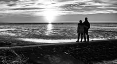 Evening hug (Zoom58.9) Tags: sky clouds sea water waves people human landscape nature outside seascape sunset himmel wolken meer fluss wasser wellen menschen leute landschaft natur draussen seelandschaft sonnenuntergang evening abend paths wege sony