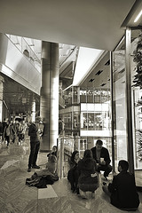 Visitors Packing Luxury Mall (sjnnyny) Tags: theshops nyc stevenj sjnnyny shoppingmall people street interior hudsonyards a6300
