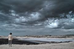 Watching the clouds (John De Vine) Tags: infrared digitalinfrared ireland connemara omeyisland landscape landscapephotography 700nm