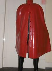 Black and Red (lulax40) Tags: cape waders catsuit gummianzug gummiganzanzug watstiefel fetish rubberist