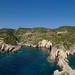 Porto Limnionas caves Zakynthos Greece Pano
