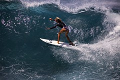 Girl Power (chris.ph) Tags: woman surfing wave maui water light ocean canon6d ef100400mmf4556lisiiusm