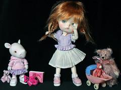 Girl time (bentwhisker) Tags: dolls bjd resin anthro rhino rhinoceros dreamhighstudio leah secretdoll mongvol3 5136 teddybear
