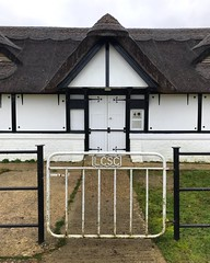 Cricket Pavilion (Marc Sayce) Tags: lcsc gate thatched cricket pavilion ashurst club boltons bench lyndhurst hampshire new forest national park winter january 2019 notrealtags bikini speedo topless naked nude milf