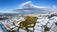 """""""Winter's Touch"""" – The Emery Celtic Cross (Gareth Wray - 12 Million Views, Thank You) Tags: ireland historic history natural gareth wray photography nikon summer landscape landmark tourist tourism scenic visit sight irish county donegal atlantic sea farm view wild way sunset field dji phantom autumn autumnal shed leaves pine needles 4 p4p uav pro professional drone quadcopter aerial tree liam emery evergreen burt castle grainan hill inch miracle legacy famous site pano panoramic attraction island inishowen 2019 winter snow frost celtic forest cross forestry giant"""