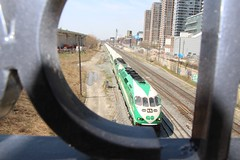 Toronto Ontario - Canada - Liberty Village - Go Train (Onasill ~ Bill Badzo - 60 Million Views - Thank Yo) Tags: toronto ont ontario canada liberty village gotrain bridge green photography johninglis factory lofts condos massey harris torontocarpet historic district attraction site onasill trinity niagara cn cp