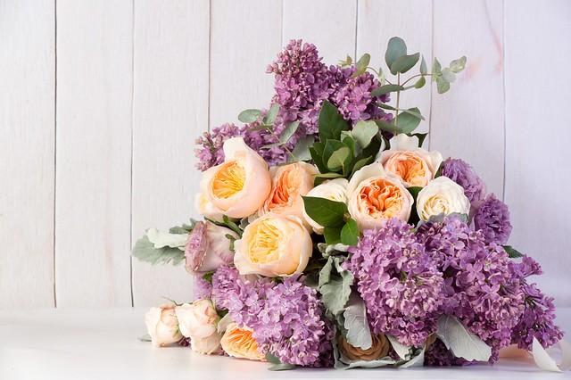 Обои розы, букет, сирень картинки на рабочий стол, раздел цветы - скачать