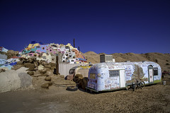 Salvation Mountain (crabsandbeer (Kevin Moore)) Tags: 2018 california landscape november october trip salvationmountain slabcity thesubs eastjesus sonorandesert desert trailer bicycle art outsiderart folkart decay god religion christian christianity inspiration structure color colorful richardknight