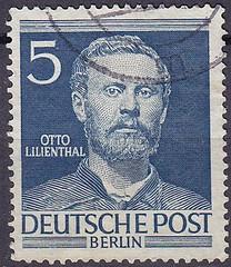 Deutsche Briefmarken (micky the pixel) Tags: briefmarke stamp ephemera deutschland deutschepost berlin ottolilienthal luftfahrtpionier aviation