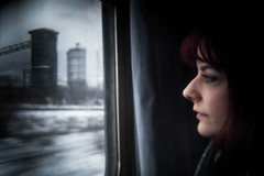 Υ (Vasilikos Lukas) Tags: train girl holga color olympus vasilikos