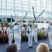 The U.S. Navy Ceremonial Guard drill team performs during the Miami Navy Week.