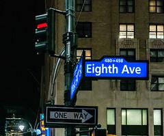 Looking Up at My Hotel (Jocey K) Tags: sonydscrx100m6 triptocanadaandnewyork architecture newyorkerhotel hotel cab car illuminations signs