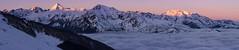 Aube à Hautacam (penelope64) Tags: pyrénées montagne mountain neige snow pic peaks sommet hautespyrénées france paysage landscape aube merdenuages panoramique panoramic olympusem1