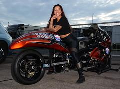 Angie_3450 (Fast an' Bulbous) Tags: girl bike turbo long brunette hair leggings people outdoor nikon wife