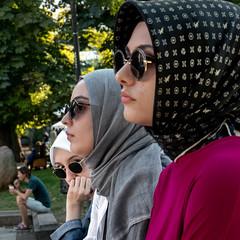 Arab Spring (Sebastian Pier Filip) Tags: panasonic lumix zs200 tz200 pointandshoot pointnshoot compact 1inchsensor zoom street sofia arab arabwomen sunglasses bulgaria strangers look