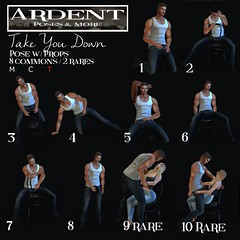 Ardent Poses - Gacha - Take You Down Gacha (Ardent Poses) Tags: secondlife second life sl avatar 2nd 2ndlife avi virtual vr 3d inworld poses pose ardent photography people exclusive avatars release new broderick logan ena roane enaroane advertisement ardentposes gacha