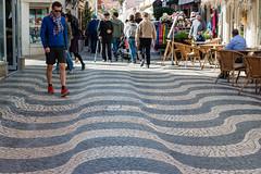 Optical Illusion (Cori Mordaunt) Tags: cascais opticalillusion sidewalks portugal streetdesign nikon nikond600