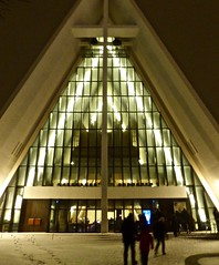 The Arctic Cathedral in Tromsø (Kumukulanui) Tags: tromsdalen church arctic cathedral troms tromsø norway flickrsbest snow