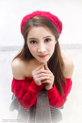 Ruby (Francis.Ho) Tags: red ruby hat wollensak xt2 fujifilm girl woman female femme lady portrait people beauty pretty lips eyes hair face chinese elegant glamour young sensuality fashion naturallight cute goddess model asian daylight sunlight outdoor