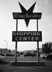 San Jose (bior) Tags: fujifilmga645zi ga645zi 6x45cm sanjose mediumformat 120 trix kodak store sign street shoppingcenter winchester