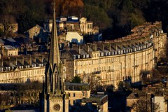 Chimneys (Nige H (Thanks for 15m views)) Tags: city cityscape bath somerset cityofbath architecture houses church spire england winter landscape
