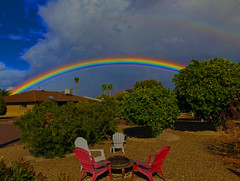 Have a Seat (oybay©) Tags: rainbow arizona suncitywest az backyard furniture clouds weatherchannel weather wild color colors colorful rainbows sky cloudier heavyweather cool interesting explore