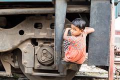 The Train Children of Dhaka (Geraint Rowland Photography) Tags: children poverty dhaka dhakatrainstation railway railways railwaylines modesoftransport transport play dhakathecapitalofbangladesh bangladesh asia southasia travel candidportrait trainchildren capitalcities urban cute