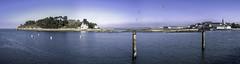 Île Tristan - Douarnenez - Bretagne, Finistère, France (Assouende) Tags: bleu ile tristan bretagne finistère mer océan atlantique arbre port panoramique baie hdr