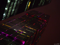 Buildings (karlbekk) Tags: city lamp nightlight lights evening outdoor olympuspenepl6 olympus olympuspen reflection building sky